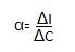 Symbolic representation of accelerator coefficient 1