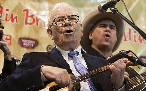 Warren Buffett in public